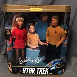 Star Trek Gift Set Barbie Collectible 1996